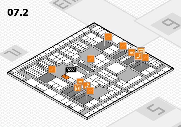 interpack 2017 hall map (Hall 7, level 2): stand B22A