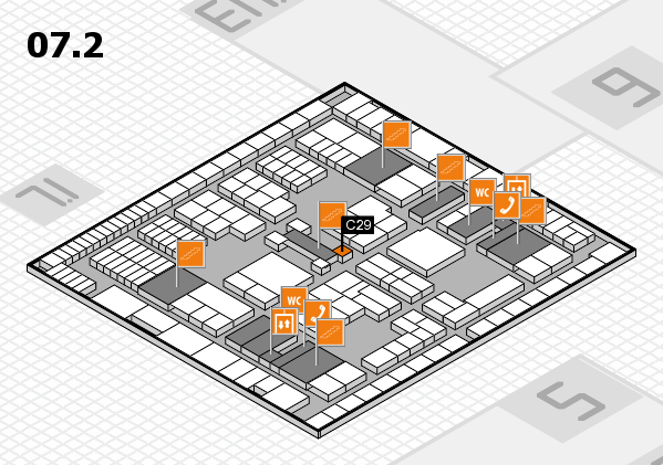 interpack 2017 hall map (Hall 7, level 2): stand C29