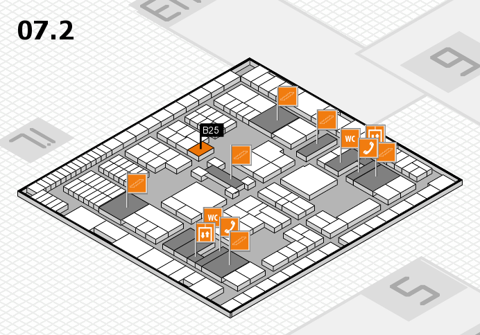 interpack 2017 hall map (Hall 7, level 2): stand B25