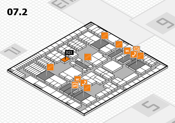 interpack 2017 hall map (Hall 7, level 2): stand B23