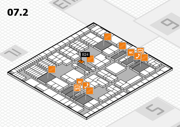 interpack 2017 hall map (Hall 7, level 2): stand B24