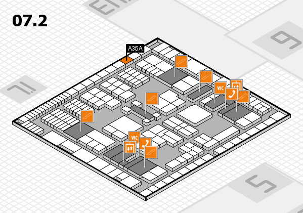 interpack 2017 hall map (Hall 7, level 2): stand A35A