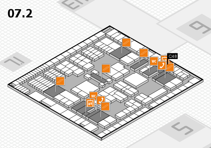 interpack 2017 hall map (Hall 7, level 2): stand C48