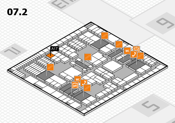 interpack 2017 hall map (Hall 7, level 2): stand A17