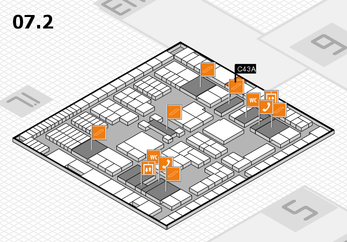 interpack 2017 hall map (Hall 7, level 2): stand C43A