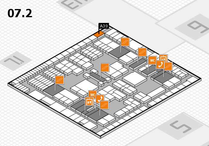 interpack 2017 hall map (Hall 7, level 2): stand A39