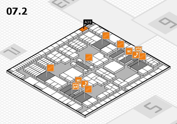 interpack 2017 Hallenplan (Halle 7, Ebene 2): Stand A39