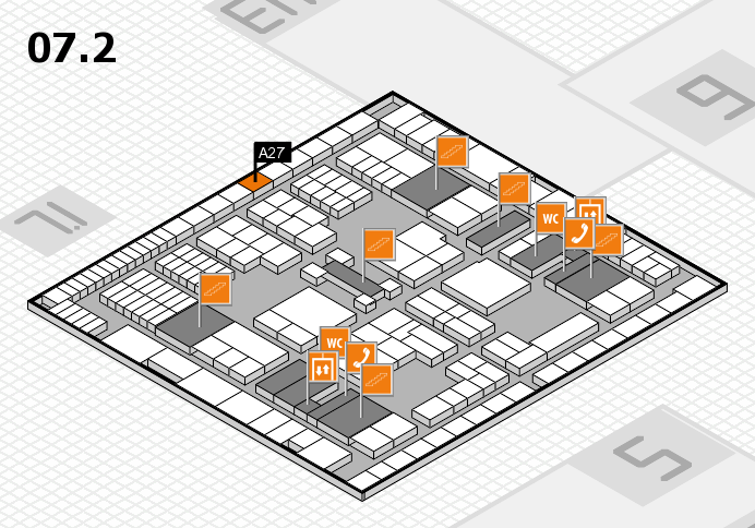 interpack 2017 hall map (Hall 7, level 2): stand A27