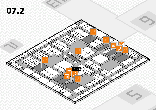 interpack 2017 hall map (Hall 7, level 2): stand C17A