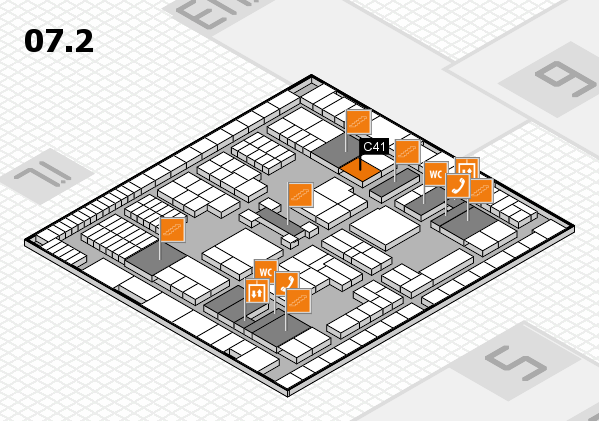 interpack 2017 hall map (Hall 7, level 2): stand C41