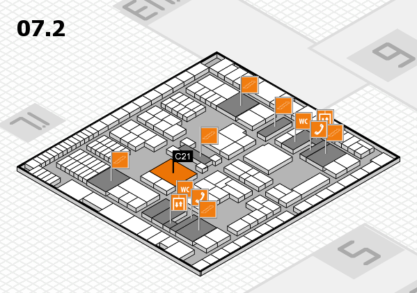 interpack 2017 hall map (Hall 7, level 2): stand C21