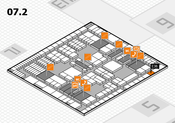 interpack 2017 Hallenplan (Halle 7, Ebene 2): Stand E38