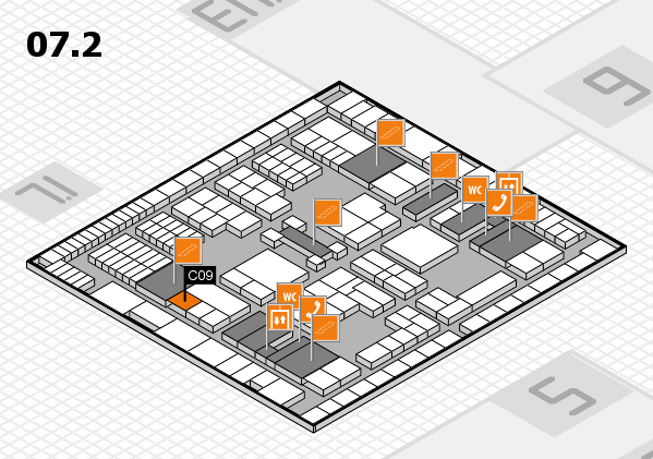 interpack 2017 hall map (Hall 7, level 2): stand C09