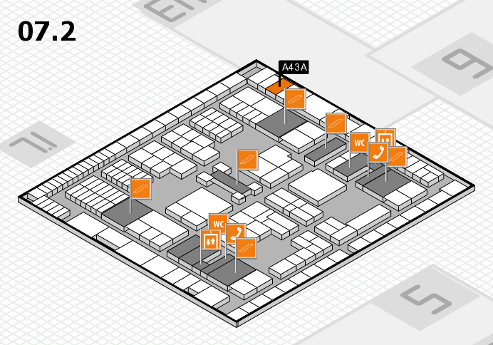 interpack 2017 hall map (Hall 7, level 2): stand A43A