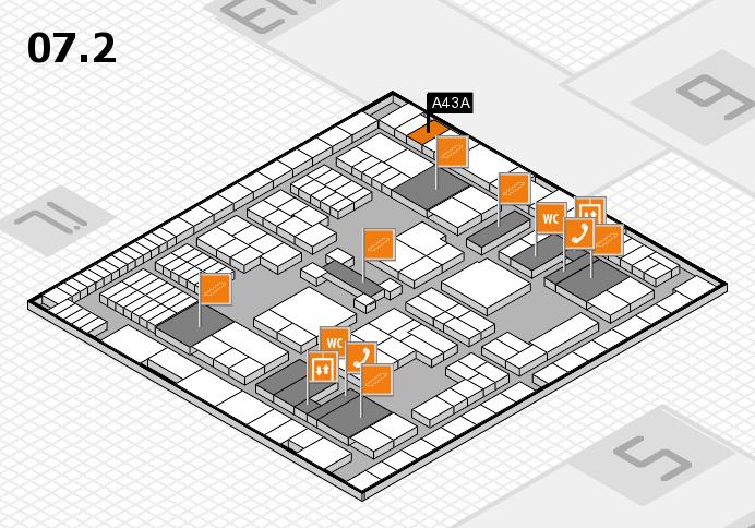interpack 2017 Hallenplan (Halle 7, Ebene 2): Stand A43A