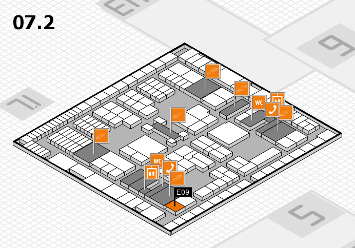 interpack 2017 hall map (Hall 7, level 2): stand E09