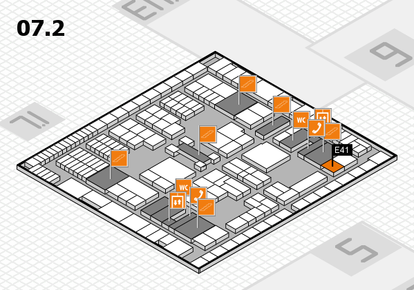 interpack 2017 hall map (Hall 7, level 2): stand E41