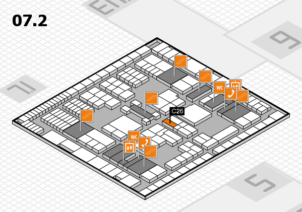 interpack 2017 hall map (Hall 7, level 2): stand C26
