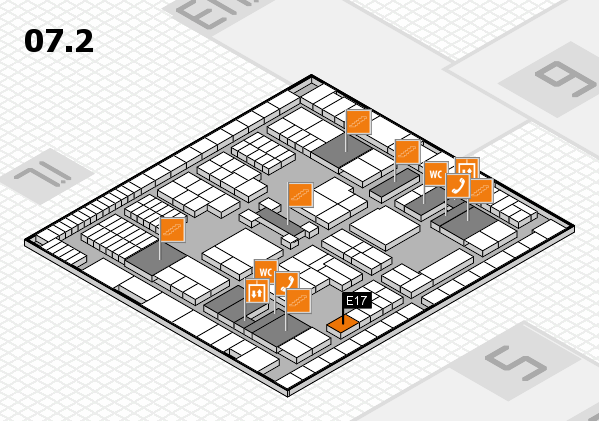 interpack 2017 hall map (Hall 7, level 2): stand E17
