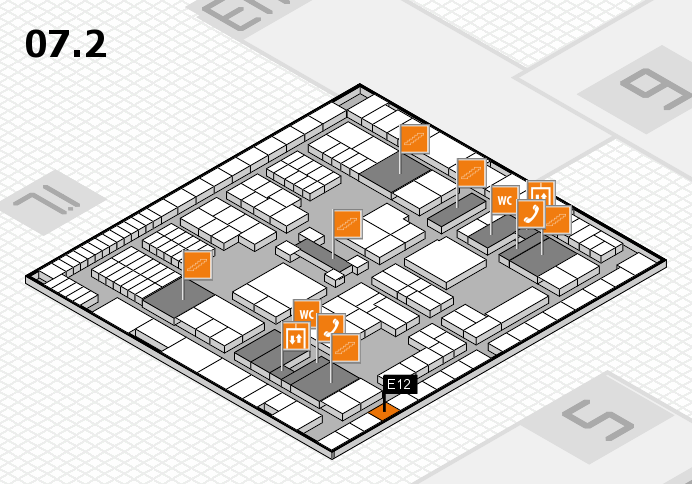 interpack 2017 hall map (Hall 7, level 2): stand E12