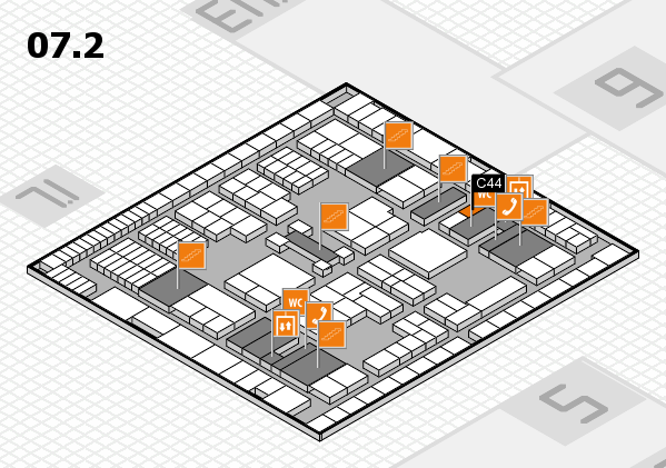 interpack 2017 hall map (Hall 7, level 2): stand C44