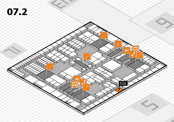 interpack 2017 hall map (Hall 7, level 2): stand E22