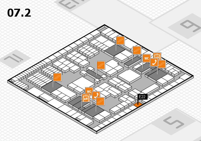 interpack 2017 Hallenplan (Halle 7, Ebene 2): Stand E22