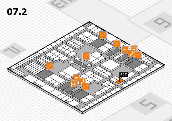 interpack 2017 Hallenplan (Halle 7, Ebene 2): Stand E27