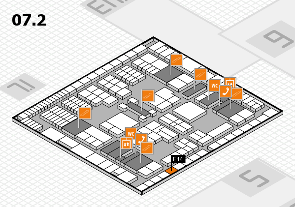 interpack 2017 hall map (Hall 7, level 2): stand E14