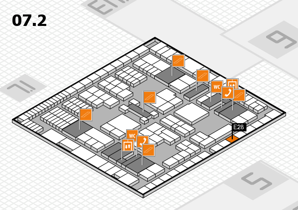 interpack 2017 hall map (Hall 7, level 2): stand E28