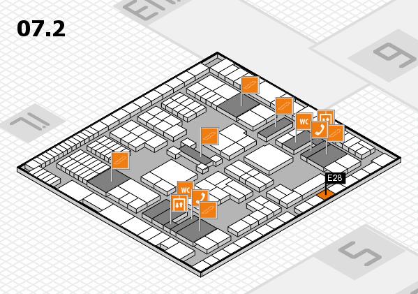 interpack 2017 Hallenplan (Halle 7, Ebene 2): Stand E28