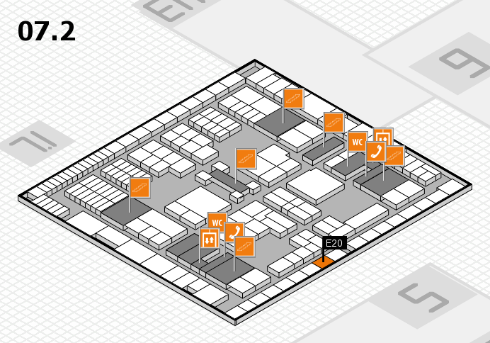 interpack 2017 hall map (Hall 7, level 2): stand E20