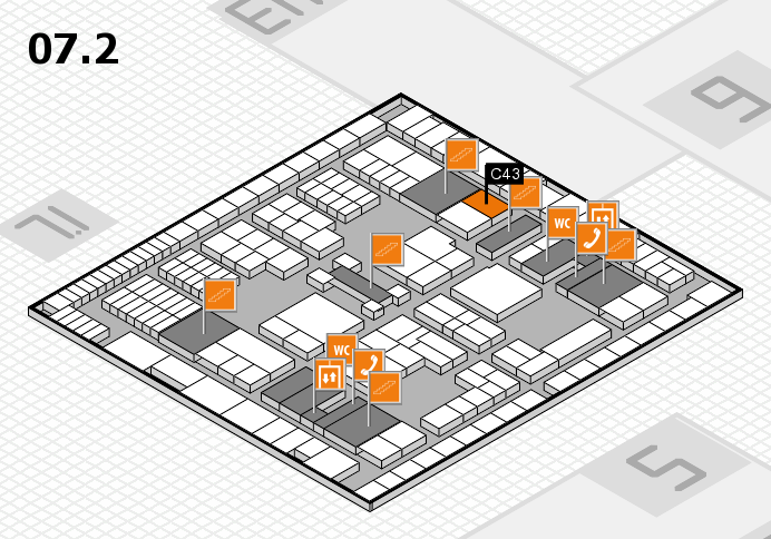interpack 2017 hall map (Hall 7, level 2): stand C43