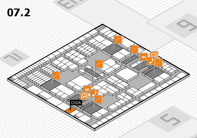 interpack 2017 hall map (Hall 7, level 2): stand D02A