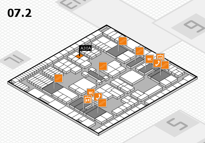 interpack 2017 hall map (Hall 7, level 2): stand A30A