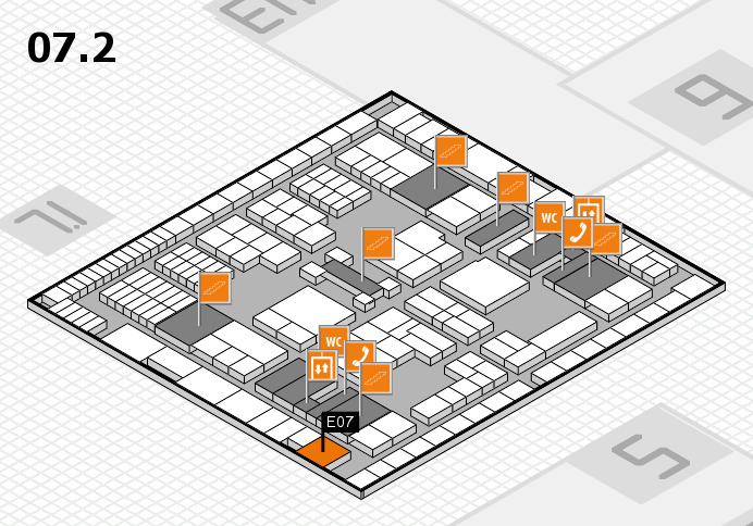 interpack 2017 hall map (Hall 7, level 2): stand E07