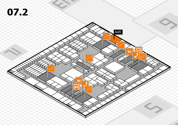 interpack 2017 hall map (Hall 7, level 2): stand A45