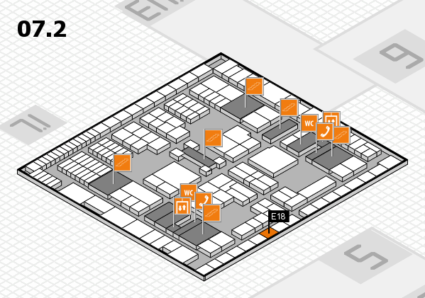 interpack 2017 hall map (Hall 7, level 2): stand E18