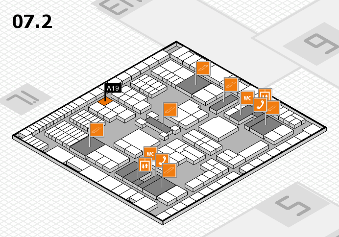 interpack 2017 hall map (Hall 7, level 2): stand A19