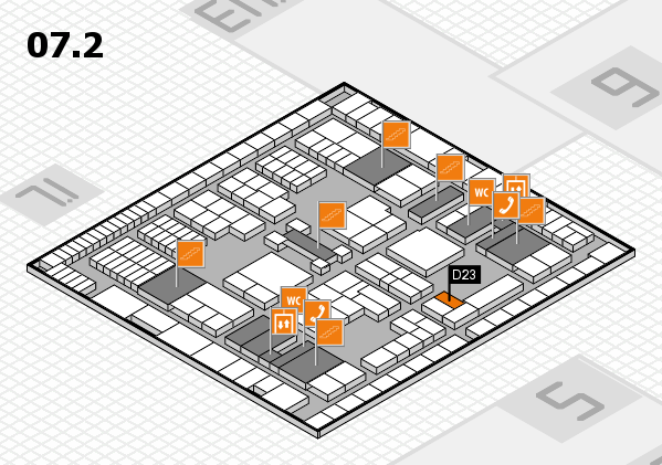 interpack 2017 hall map (Hall 7, level 2): stand D23