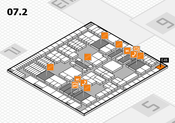 interpack 2017 hall map (Hall 7, level 2): stand E48