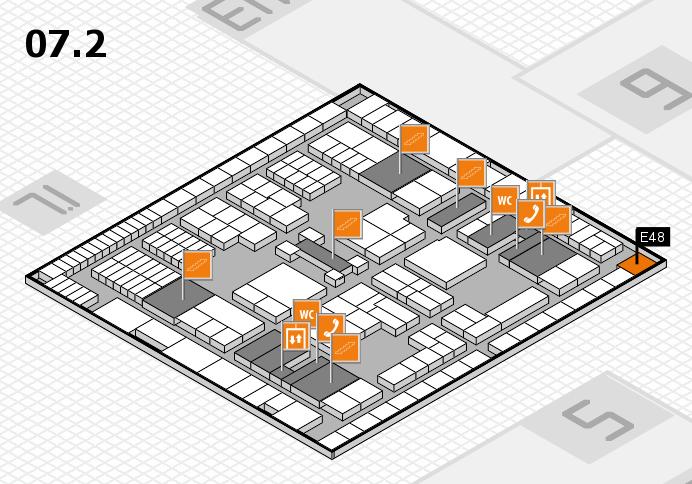 interpack 2017 Hallenplan (Halle 7, Ebene 2): Stand E48