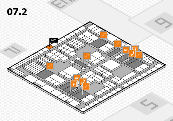 interpack 2017 hall map (Hall 7, level 2): stand A21