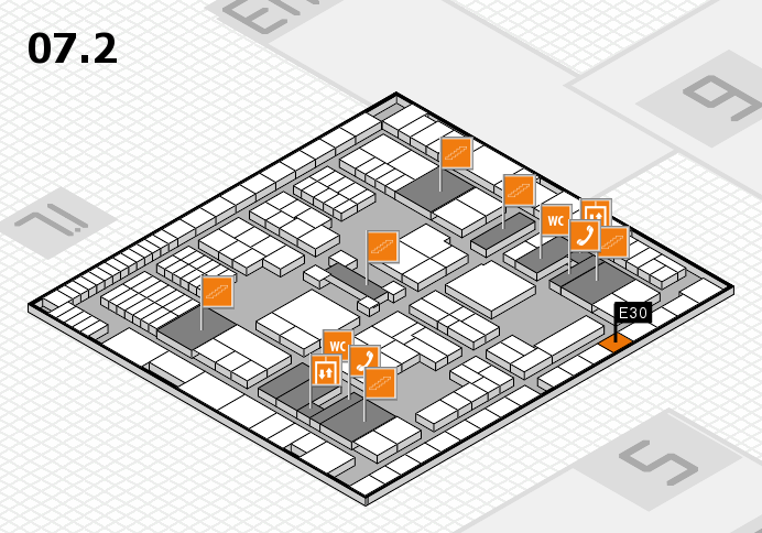 interpack 2017 hall map (Hall 7, level 2): stand E30