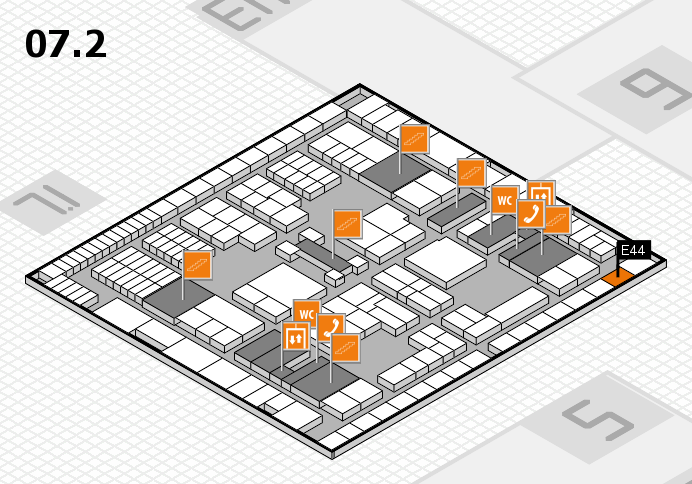 interpack 2017 hall map (Hall 7, level 2): stand E44