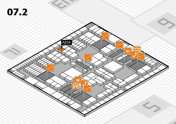 interpack 2017 hall map (Hall 7, level 2): stand A23A