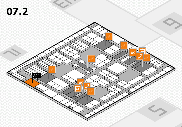 interpack 2017 hall map (Hall 7, level 2): stand A01