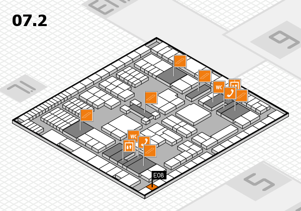 interpack 2017 hall map (Hall 7, level 2): stand E08