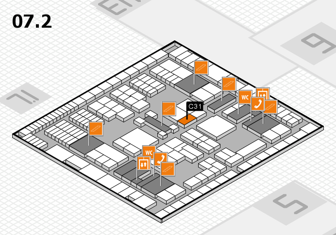 interpack 2017 hall map (Hall 7, level 2): stand C31