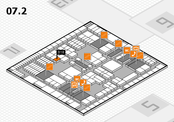 interpack 2017 hall map (Hall 7, level 2): stand B18